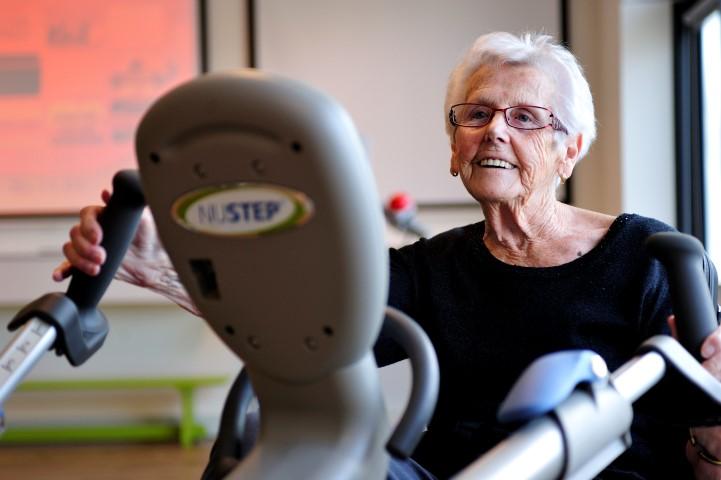 De NuStep is een speciaal voor de geriatrie ontwikkelde recumbent cross-trainer.