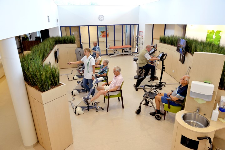 Geriatric pyshiotherapy room and fitness for elderly silverfit